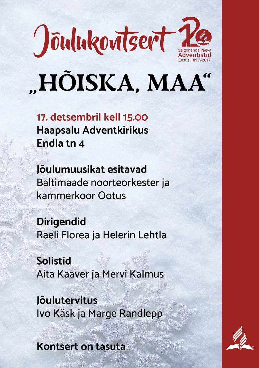 haapsalu joulukontserdi plakat2.png Jõulukontsert Haapsalus