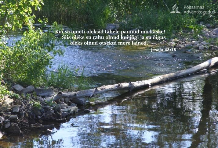 rahu kui jõgi. 714x486 Rahu Jeesuses