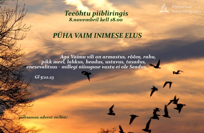 teeõhtu novembris  714x467 Olete oodatud teeõhtule piibliringis 8. novembril 18.00