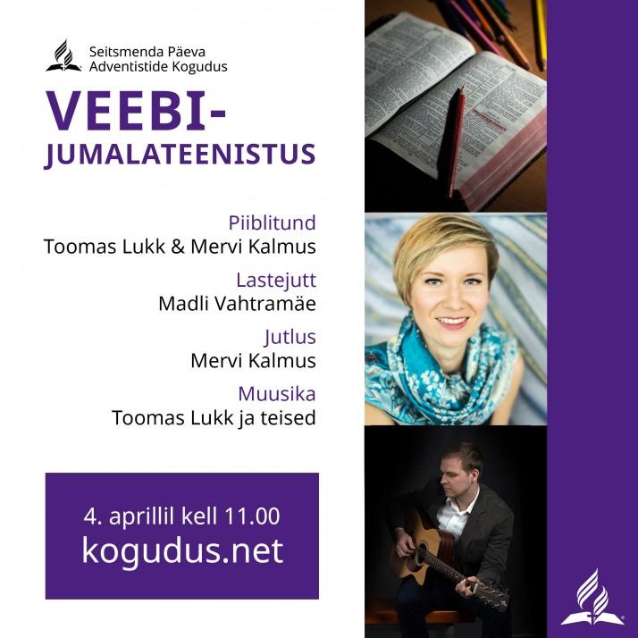 kogudus.net 04.04 714x714 Veebijumalateenistus 4. aprillil